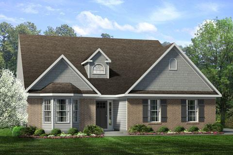 Exterior featured in the Cotswold III By Windsor Homes in Greensboro-Winston-Salem-High Point, NC