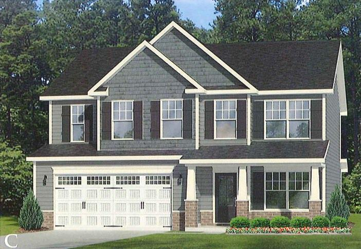 Exterior featured in the Wilmington By Windsor Homes in Jacksonville, NC