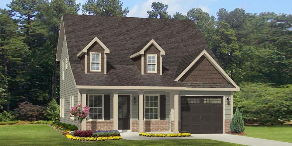 Exterior featured in the New Bern By Windsor Homes in Greensboro-Winston-Salem-High Point, NC