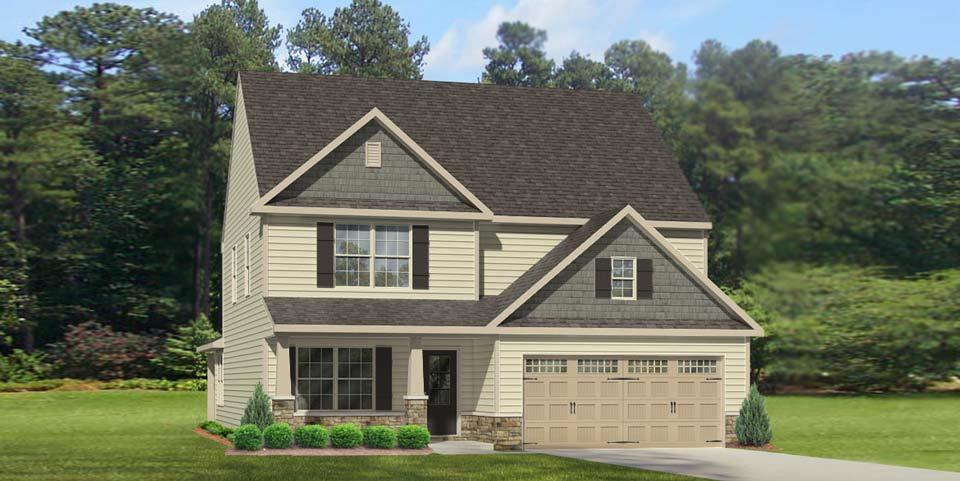 Exterior featured in the Bailey By Windsor Homes in Jacksonville, NC