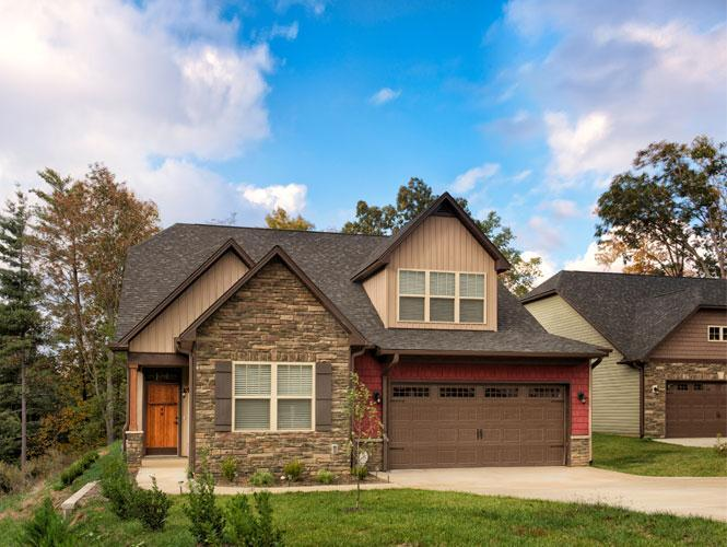 Exterior featured in the Carlisle By Windsor Built Homes in Asheville, NC