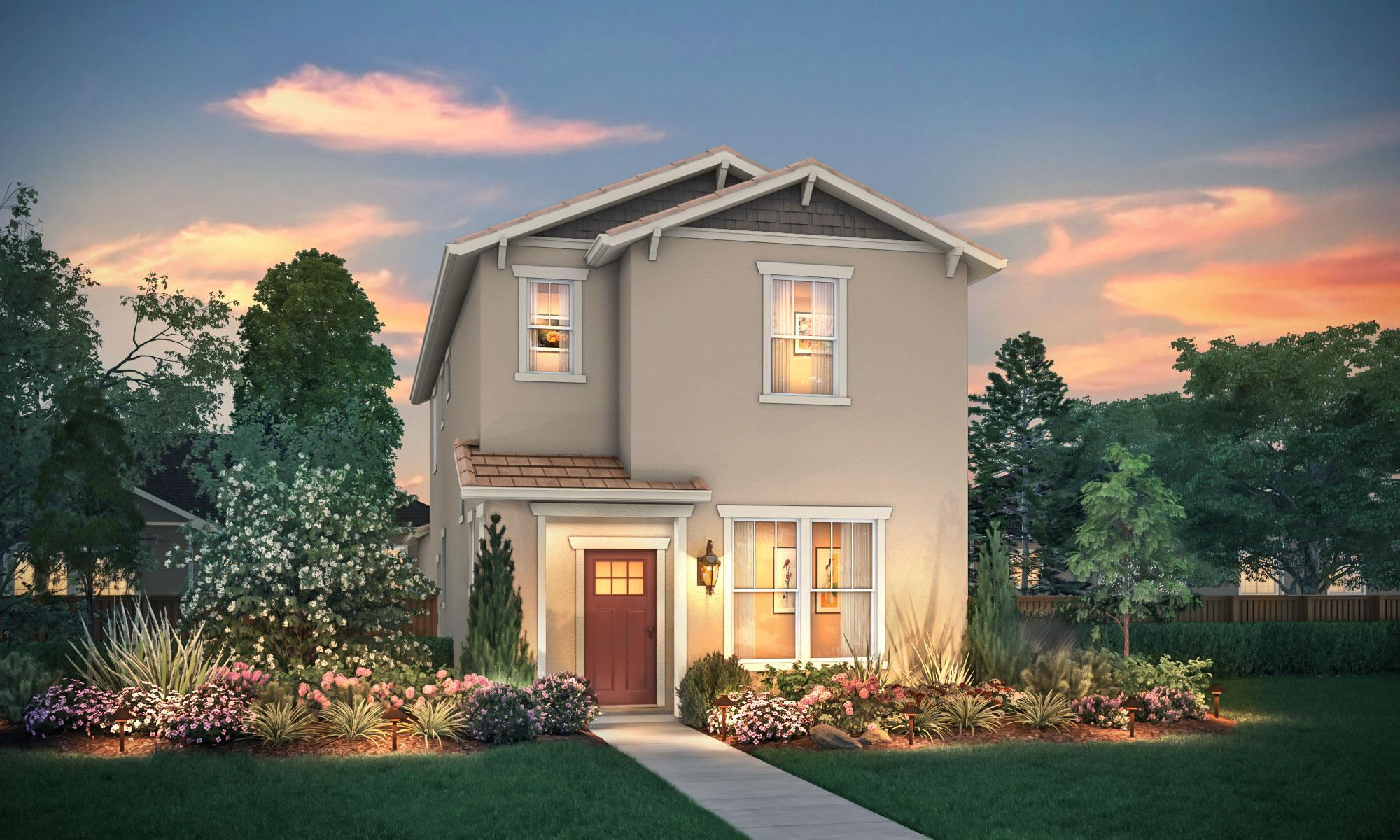 Exterior featured in the Summerwood By Windward Pacific Builders in Merced, CA