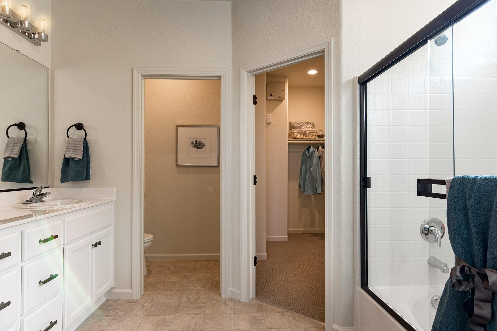 Bathroom featured in the Heartwood By Windward Pacific Builders in Merced, CA