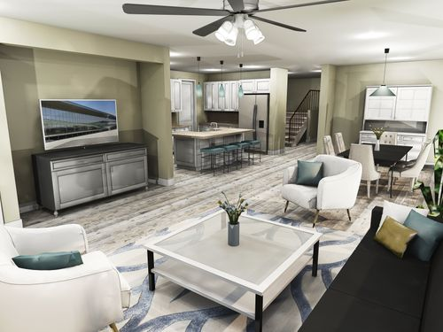 Greatroom-and-Dining-in-The Rubicon-at-River Pointe-in-Oakdale