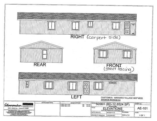 Exterior Elevation:Residence 222 Exterior