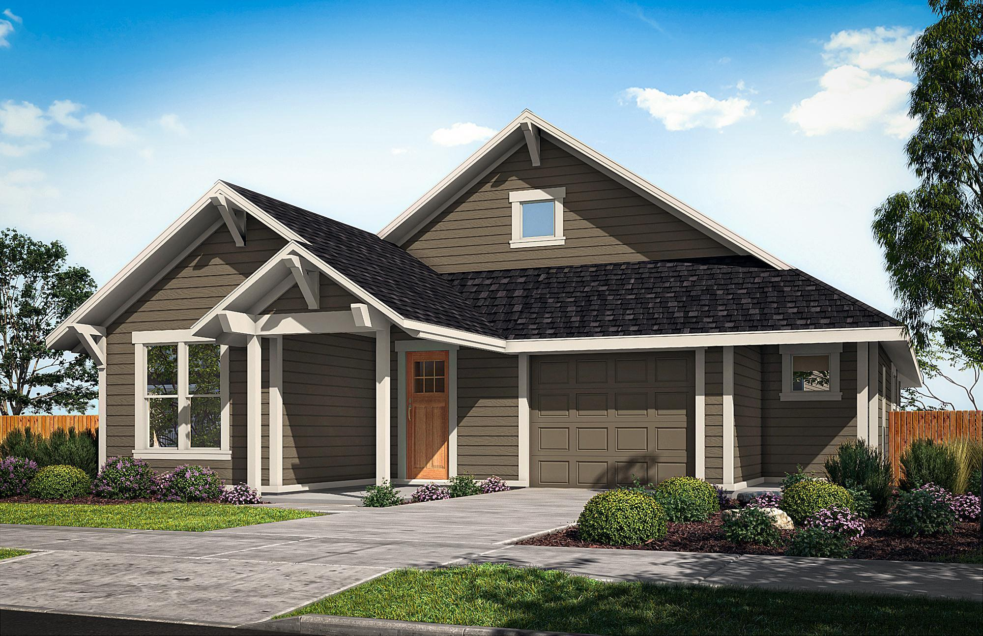 Exterior featured in The Cedar By Woodhill Homes in Central Oregon, OR