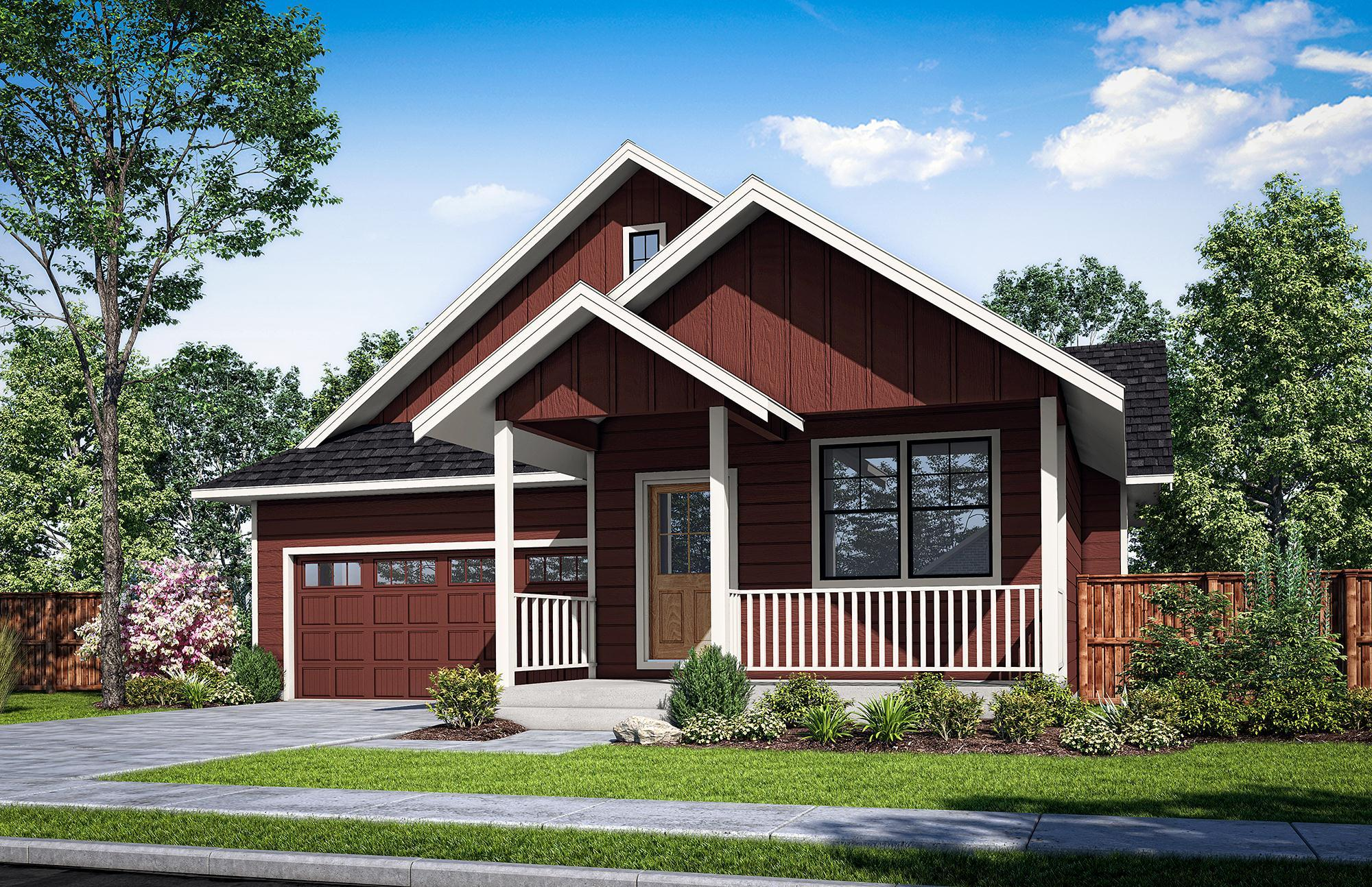 Exterior featured in The Buxton-B By Woodhill Homes in Corvallis, OR