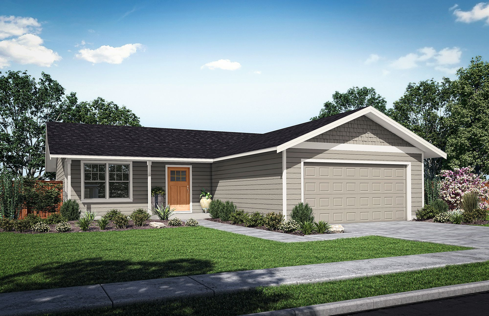 Exterior featured in The Yucca A By Woodhill Homes in Richland, OR