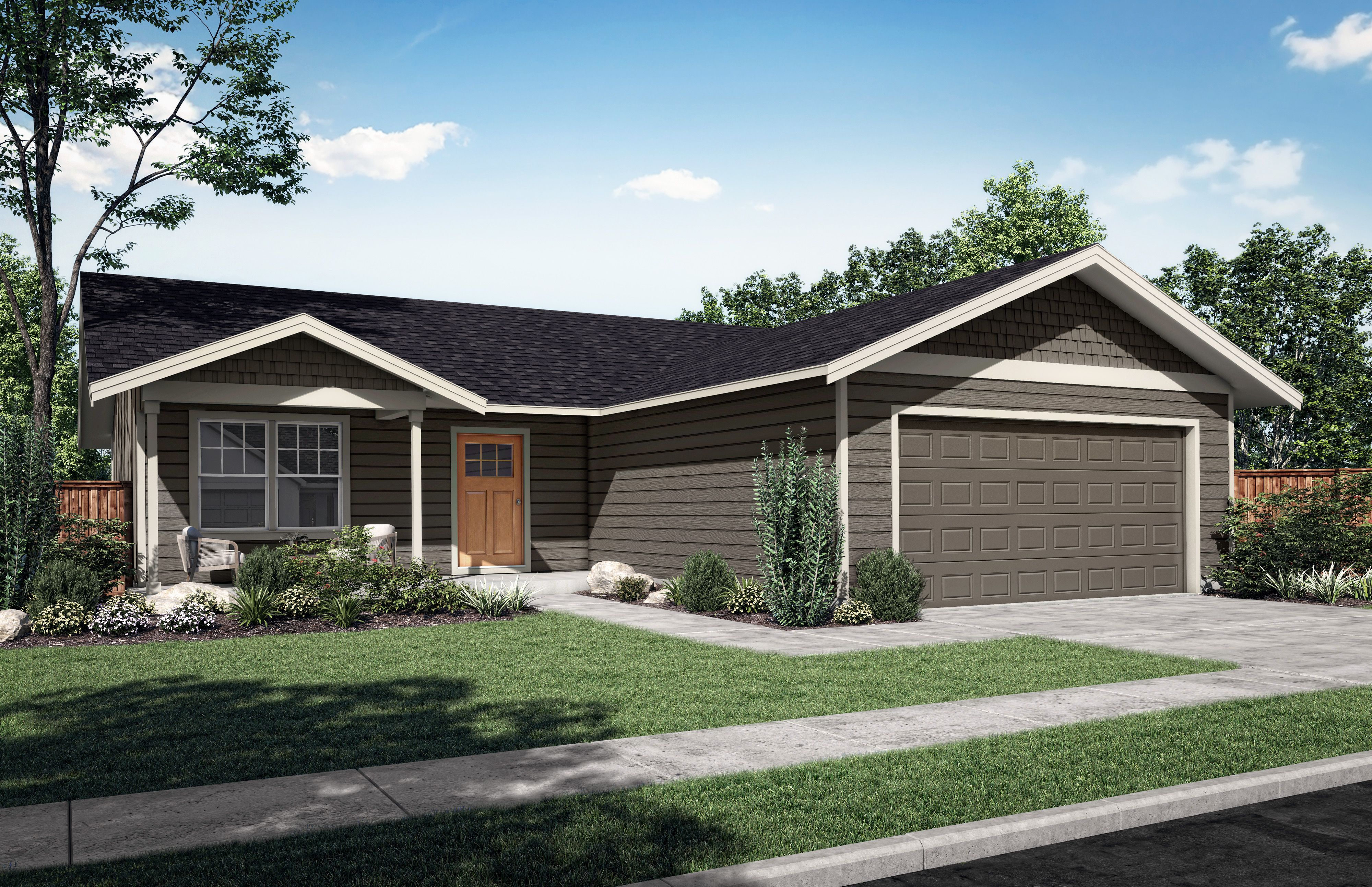 Exterior featured in The Yucca B By Woodhill Homes in Richland, OR