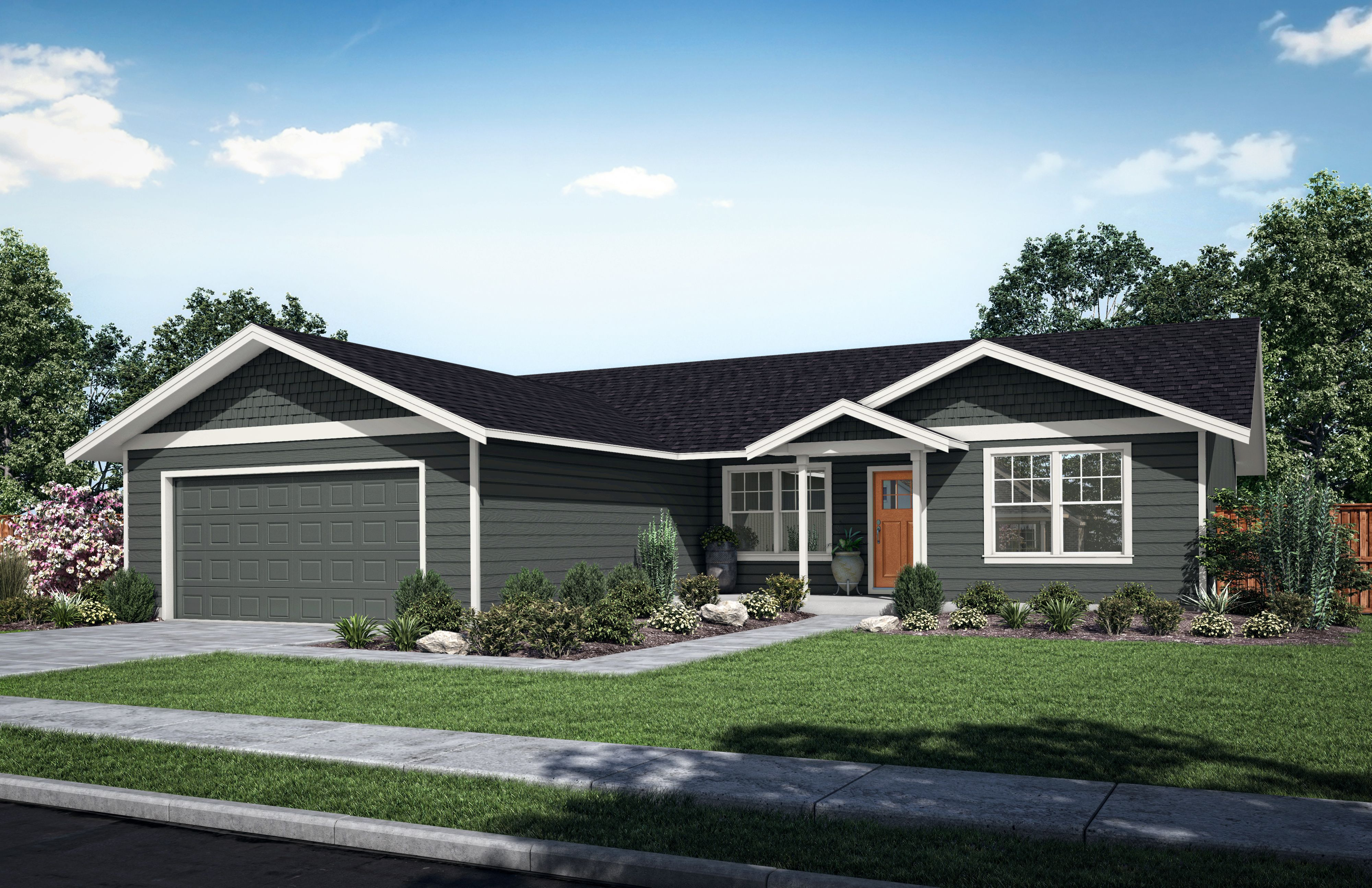 Exterior featured in The Willow A By Woodhill Homes in Richland, OR