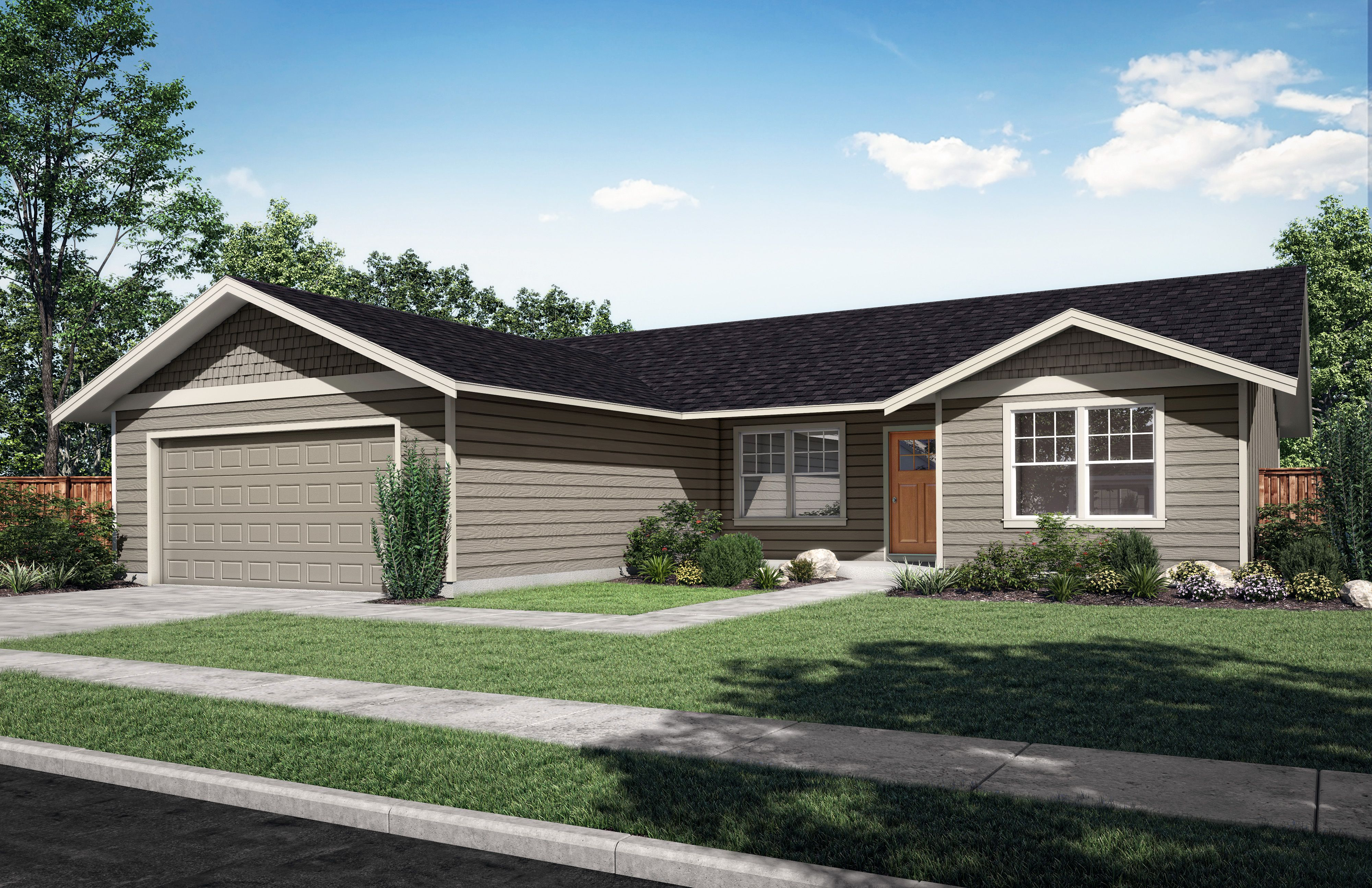 Exterior featured in The Willow B By Woodhill Homes in Richland, OR