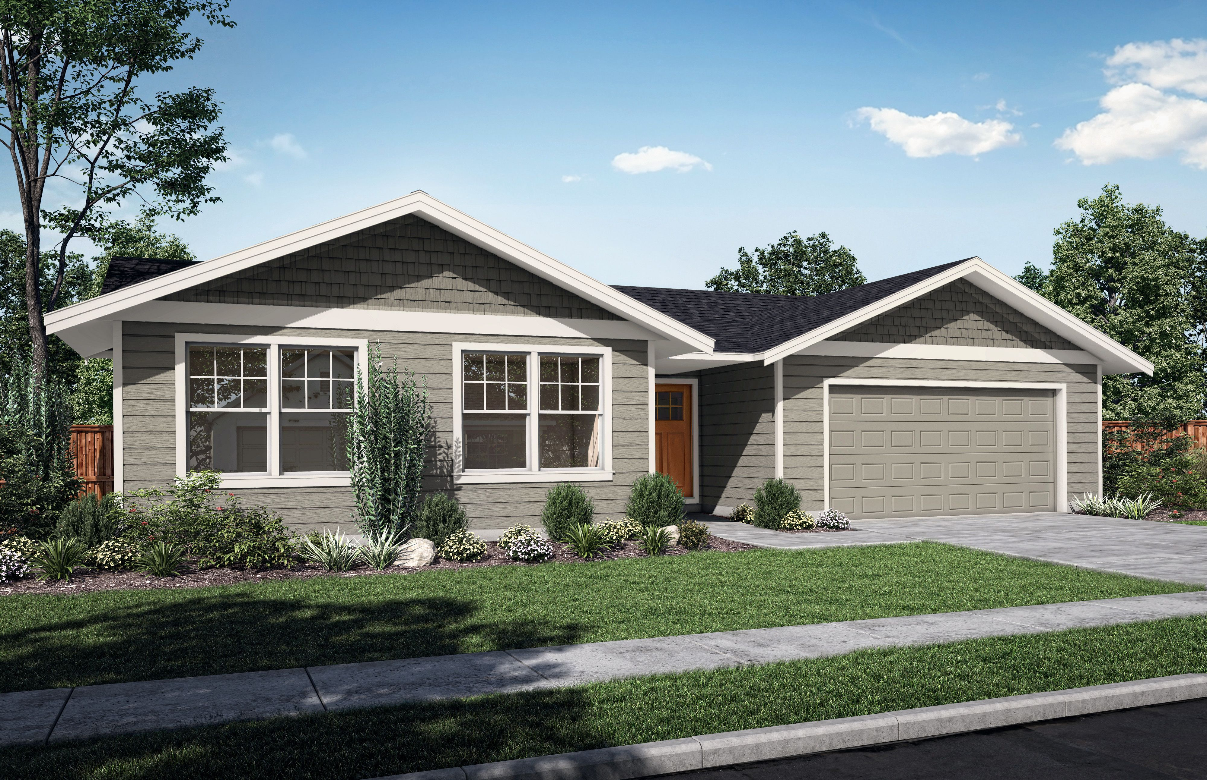 Exterior featured in The Poplar By Woodhill Homes in Richland, OR