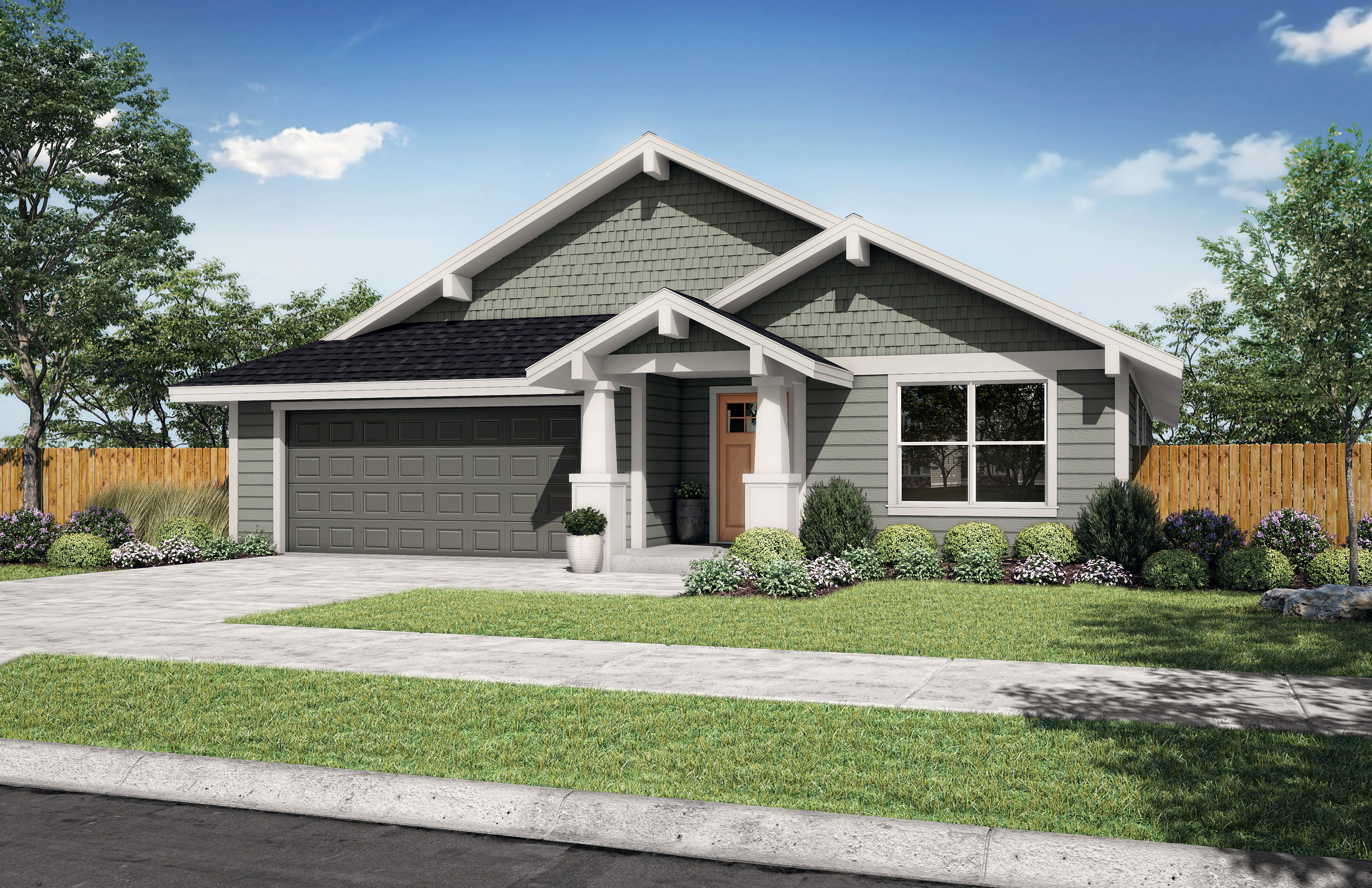 Exterior featured in the Sage A By Woodhill Homes in Central Oregon, OR