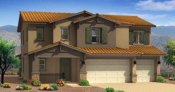 Elevation:Woodside Homes - Cedar Plan - Lot 9