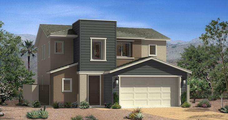 Elevation:Woodside Homes - Huntington Plan - Lot 109