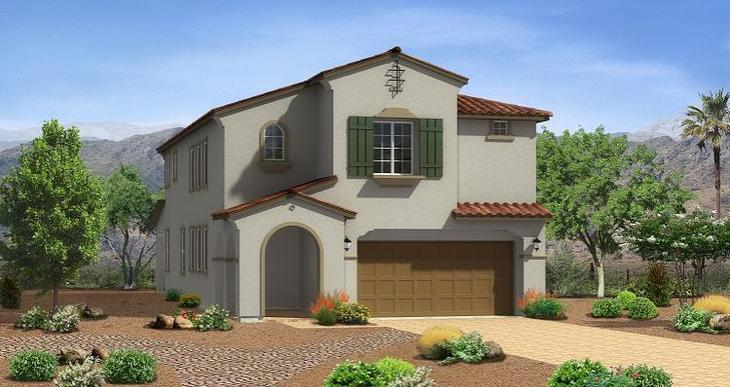 Elevation:Woodside Homes - Mystic Plan