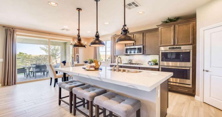 Kitchen-in-Shasta Plan-at-Pinyon Chase at Skye Canyon-in-Las Vegas