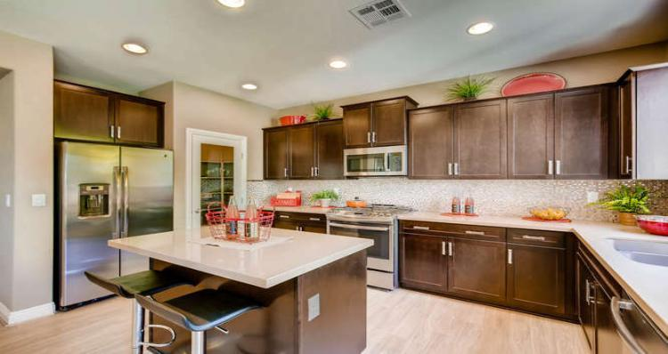 Kitchen-in-Huntington Plan --at-Laguna at Tierra Santa-in-North Las Vegas