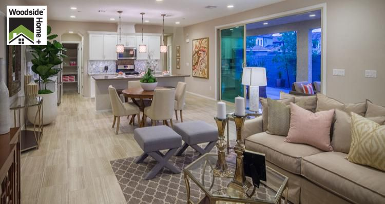 Living Area featured in the Lilac Plan By Woodside Homes in Las Vegas, NV
