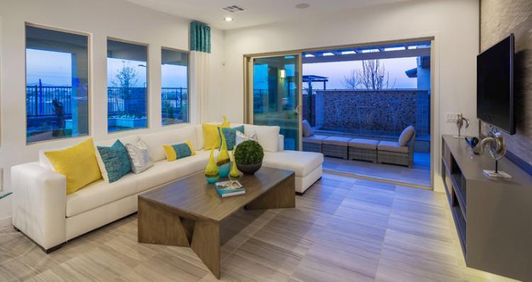 Greatroom-in-Biella Plan-at-Skystone in Summerlin-in-Las Vegas