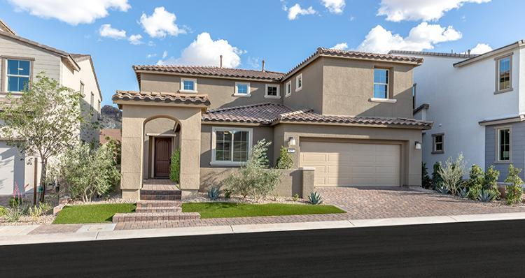 Exterior featured in the Camelia Plan 5 By Woodside Homes in Las Vegas, NV