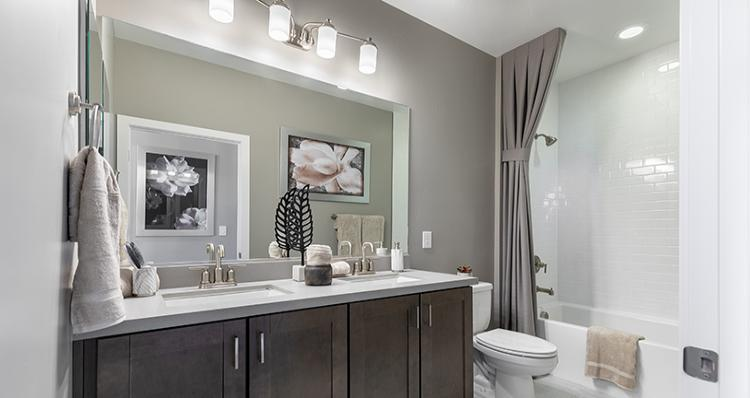 Bathroom featured in the Rosabella Plan 6 By Woodside Homes in Las Vegas, NV