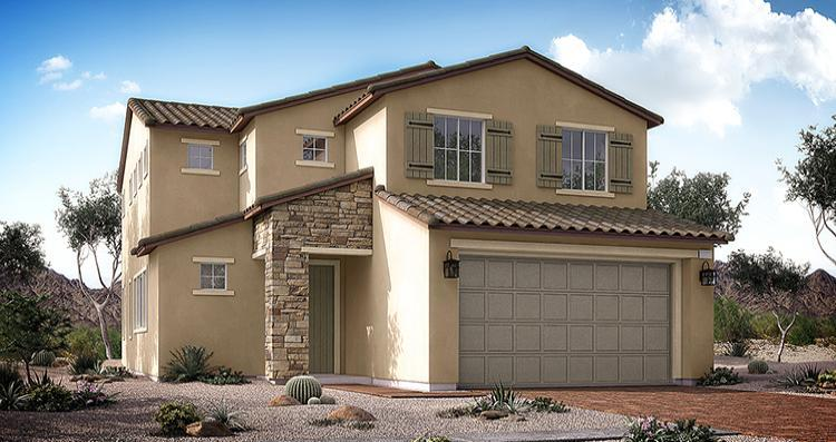 Exterior featured in the Bowery Plan By Woodside Homes in Las Vegas, NV