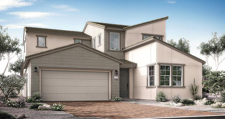 Exterior featured in the Antonella Plan 7 By Woodside Homes in Las Vegas, NV