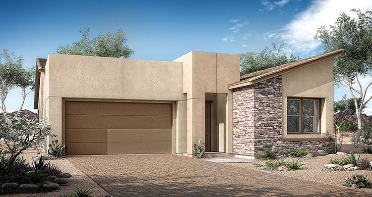 Exterior featured in the Vezio Plan 2 By Woodside Homes in Las Vegas, NV