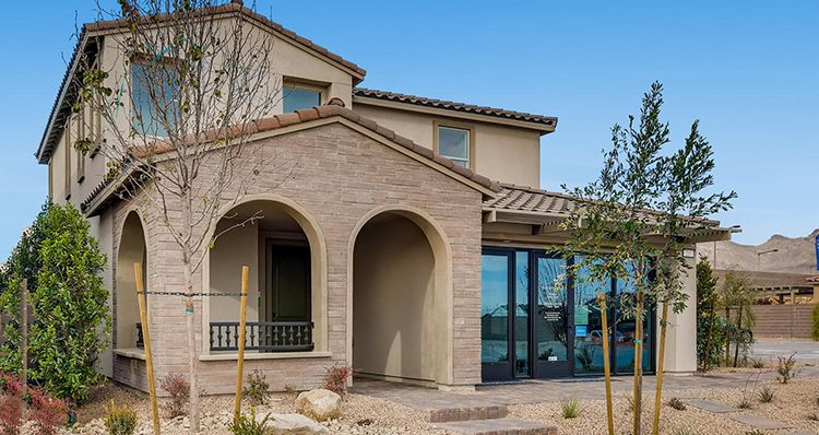 Exterior featured in the Sierra Plan 5 By Woodside Homes in Las Vegas, NV