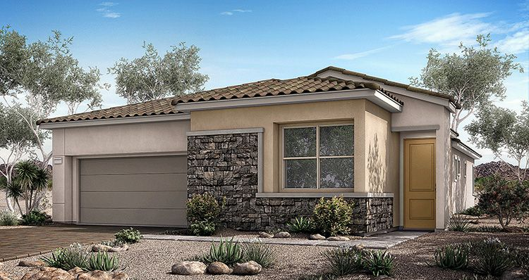 Exterior featured in the Vista Plan 2 By Woodside Homes in Las Vegas, NV