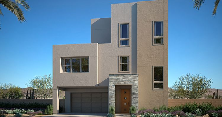 Exterior featured in the Amber Plan 3 By Woodside Homes in Las Vegas, NV