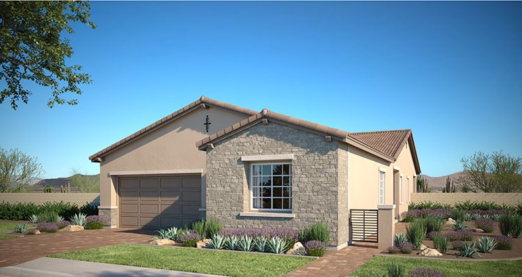 Exterior featured in the Hudson Plan 3 By Woodside Homes in Las Vegas, NV