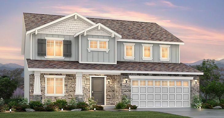 Elevation:Woodside Homes - Lot 31 - Stonehaven IV