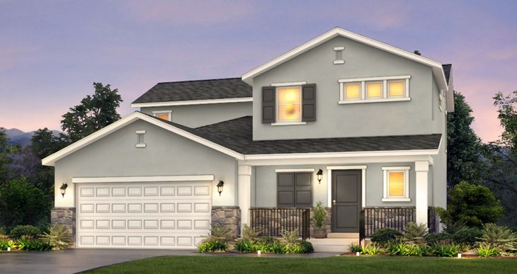 Elevation:Woodside Homes - Lot 57 - Amesbury