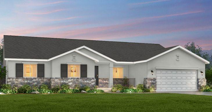 Elevation:Woodside Homes - Lot 14 - Marquis