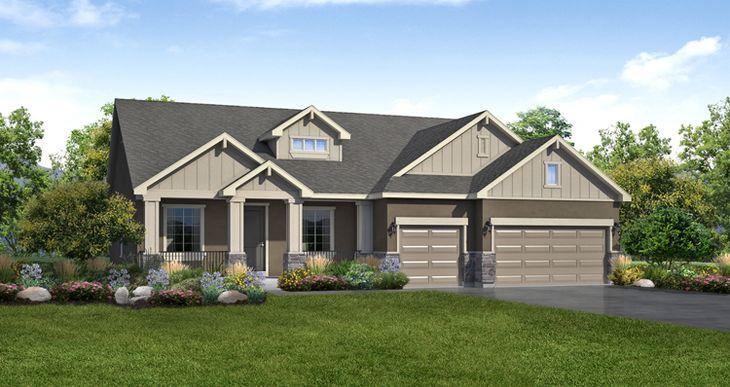 Elevation:Woodside Homes - Lot 2755 - Lady Gray
