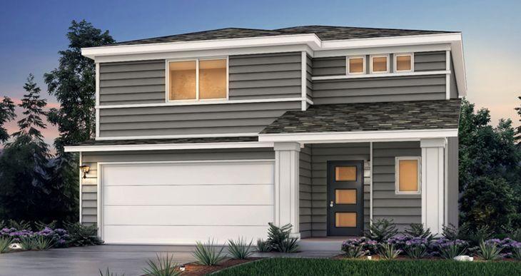 Elevation:Woodside Homes - Spruce - CW