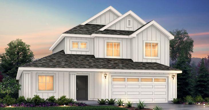 Elevation:Woodside Homes - Addison - CW