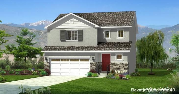 Elevation:Woodside Homes - Spruce -CFH