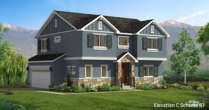 Elevation:Woodside Homes - Aspen- CFH