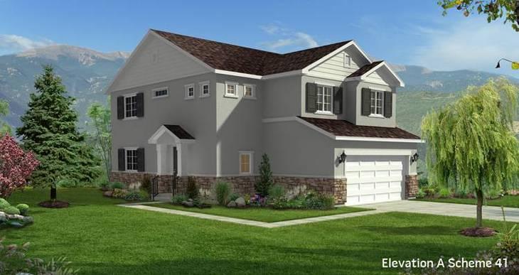 Elevation:Woodside Homes - Boxelder II-CFH