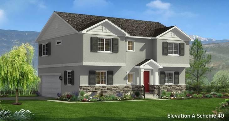 Elevation:Woodside Homes - Cypress- CFH