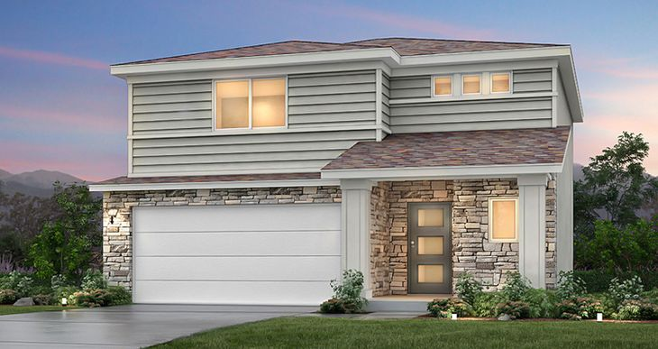 Elevation:Woodside Homes - Spruce II - SWP