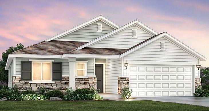 Elevation:Woodside Homes - Edgewater - SWP