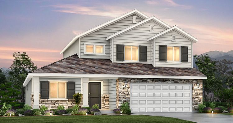 Exterior featured in the Addison - SWP By Woodside Homes in Salt Lake City-Ogden, UT