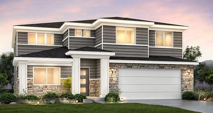 Elevation:Woodside Homes - Lot 45 - Hampton