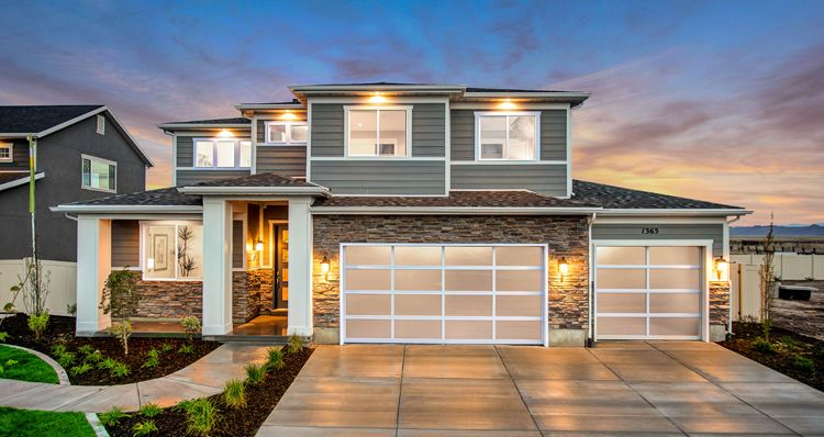 Exterior featured in the Hampton Estate - By Woodside Homes in Salt Lake City-Ogden, UT
