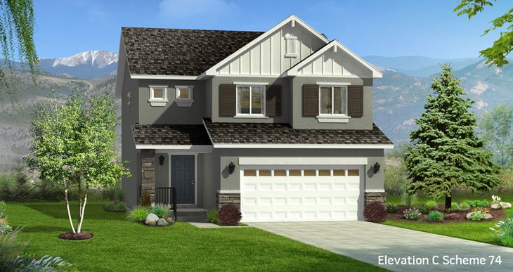 Elevation:Woodside Homes - Lot 2520 - Boxelder
