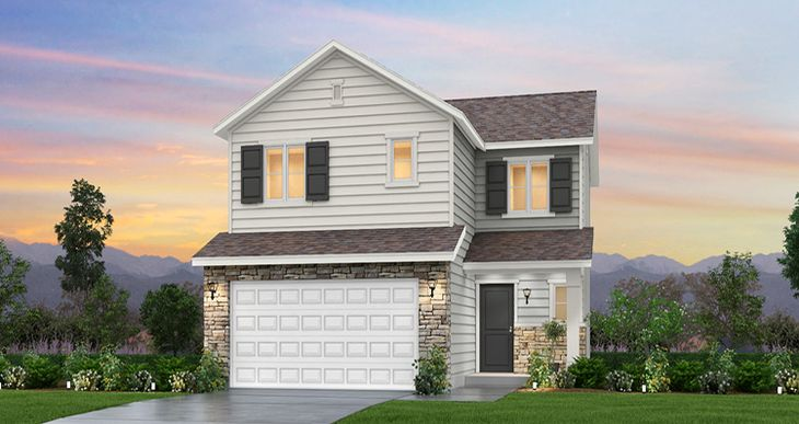 Elevation:Woodside Homes - Lot 233 - Juniper